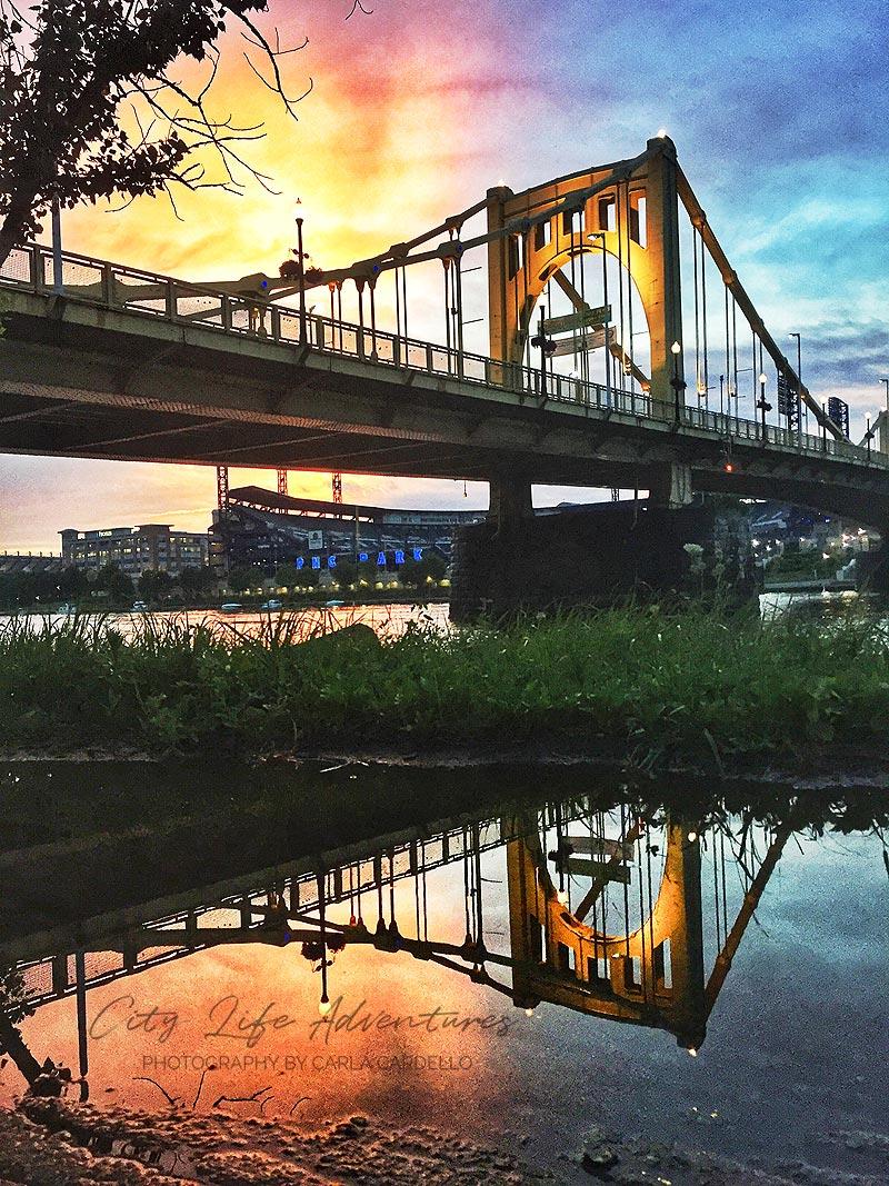 Clemente-Bridge-Sunset-Reflection-by-Carla-Cardello-portfolio